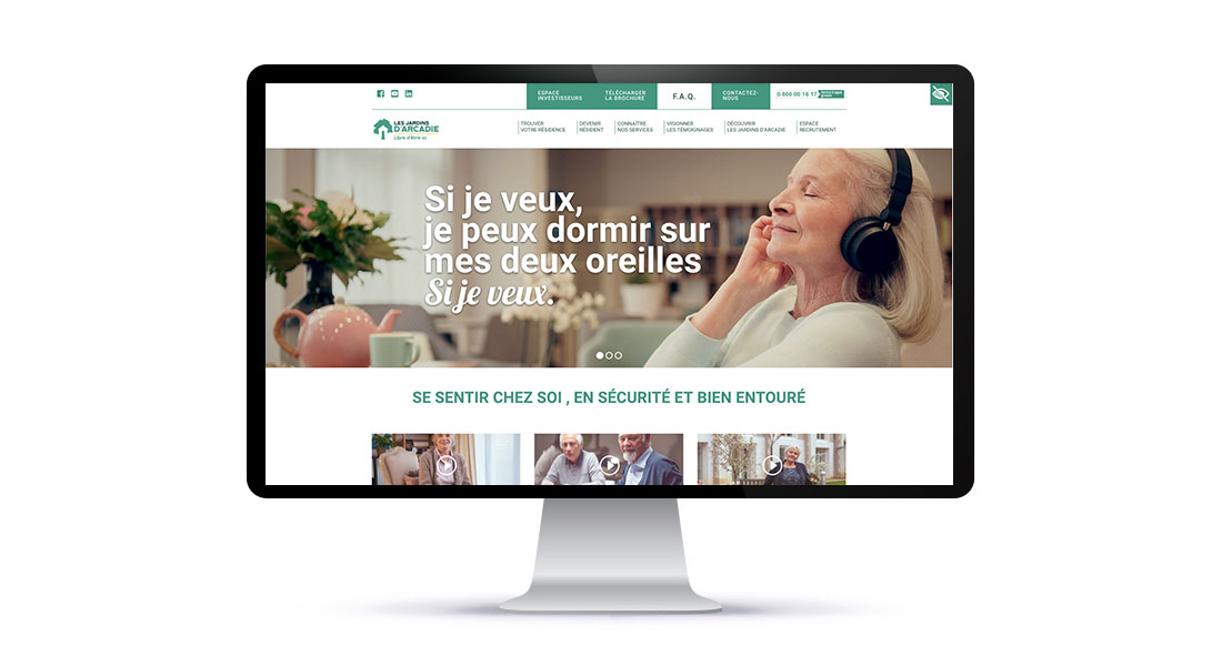 Home page du site les Jardins d'Arcadie